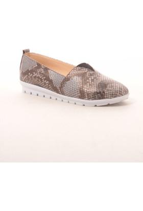 Gio&Mi Hs-Drbbt02 Gri Yılan Ayakkabı
