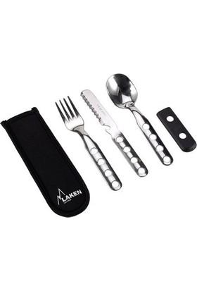 Laken Çelik Çatal, Kaşık, Bıçak 3Lü Set+Nprn Kilifli