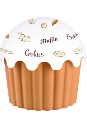 Aroni Cupe Cake Saklama Kabı - Kahve 2500 Ml