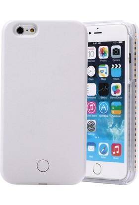 Komo Design iPhone 6 Beyaz Işıklı Selfie Kılıfı