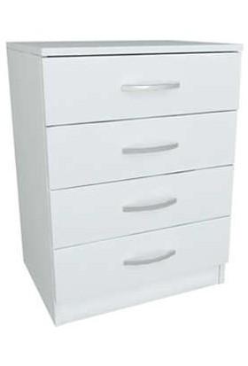 EvdemoAe-1045 Açelya 4 Çekmeceli Şifonyer Beyaz