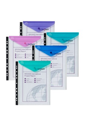 Snopake Polyfile Rıngbınder Wallet Hc-P Electra Klasörlenebilir Çıt Çıtlı Dikey Dosya(Karışık Renk) Sp15695