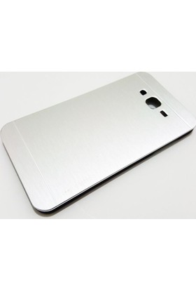 Motomo Samsung Galaxy J7 Motomo Gümüş Metal Kılıf