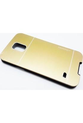 Motomo Samsung Galaxy S5 Motomo Gold Metal Kılıf