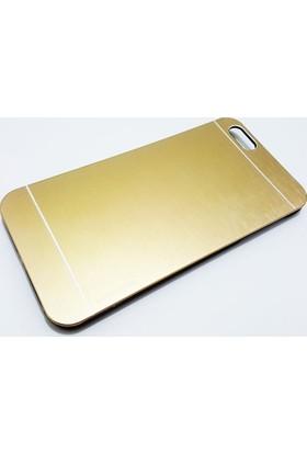 Motomo Apple İphone 6 - 6S Motomo Gold Metal Kapak Kılıf