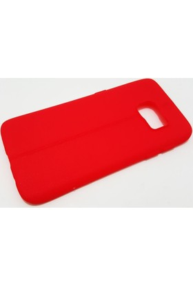 Zore Samsung Galaxy S7 Zore Kırmızı Silikon Kılıf