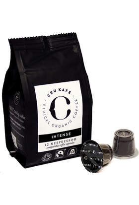 Crukafe 48 Adet Nespresso® Uyumlu Organik Kapsul Kahve - Intense (Sertlik: 12) 4 Paket Kapsül Kahve