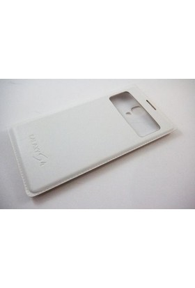 Mobillife Samsung Galaxy S4 Flip Cover Pencereli Beyaz Kılıf