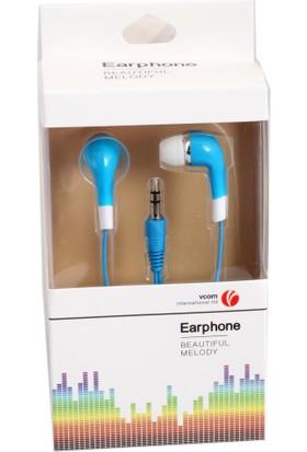 Vcom M232-L Mavi Kulak İçi Kulaklık