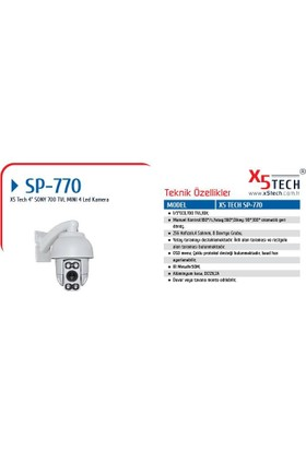 "X5 Tech Ym-Sp770 (90P) 1-3"" 700Tvl 10X Mini Ir"