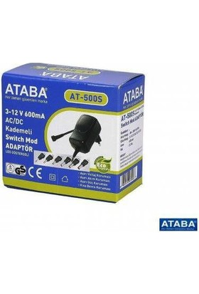 Ataba At-500S 0-12V Kademeli Adaptör 500Mah