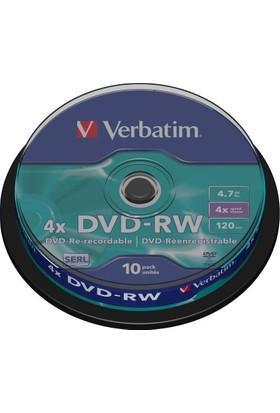 Verbatım 43552 Dvd-Rw 4.7Gb 4X 10Lu Spındle