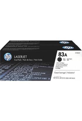 HP 83A 2'li Paket 1500 Sayfa Kapasiteli Siyah Toner CF283AD