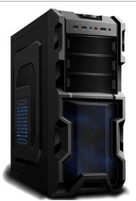 Elba 930 Gamer Siyah Kırmızı Led Panel Atx Kasa