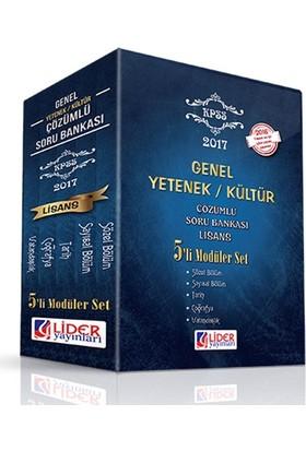 Lider Yayınları Kpss 2017 Genel Yetenek-Genel Kültür Lisans (5'Li) Modüler Soru Bankası