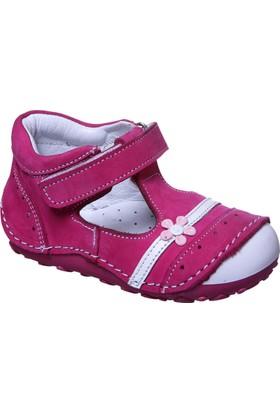 Sanbe İlkadım Kız Deri Ayakkabı Fuşya