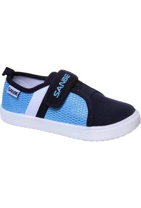 Sanbe Cırtlı Erkek Keten Ayakkabı Mavi