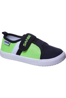 Sanbe Cırtlı Erkek Keten Ayakkabı Yeşil