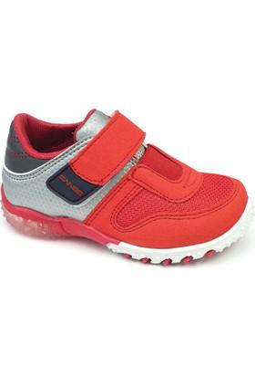 Sanbe Erkek Işıklı Spor Ayakkabı Kırmızı