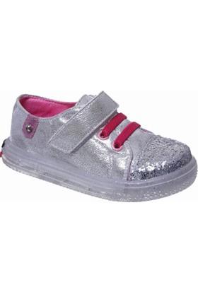 Sanbe Cırtlı Lastikli Kız Spor Ayakkabı Lame