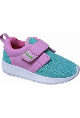 Sanbe Cırtlı Kız Spor Ayakkabı Pembe Yeşil