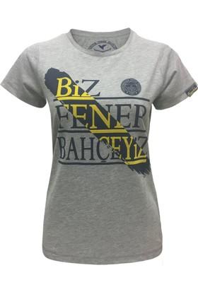 Fenerium Kadın Tribün Flok T-Shirt