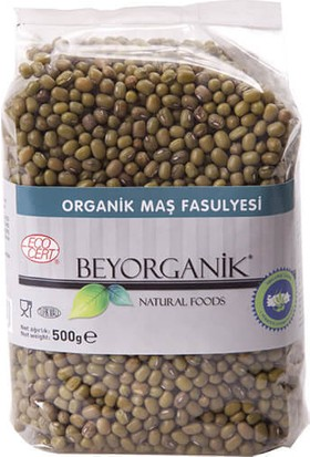 BeyOrganik Organik Maş Fasulyesi, 500gr