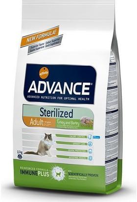 Advance Adult Sterilised Turkeybarley Hindili Kısırlaştırılmış Yetişkin Kedi Maması 1,5 Kg