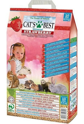 Cats Best Universal Çilekli Bitkisel Kuş Kemirgen Ve Kedi Kumu 10 Lt (5,5 Kg)