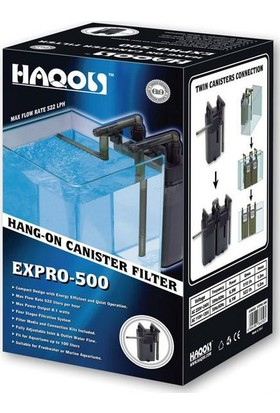Haqos Expro-500 Mini Dış Filtre 510L - H