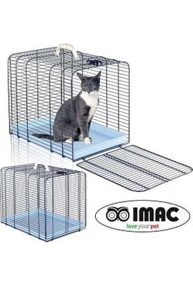 İmac Transporto Gatto 3 Katlanabilir Metal Kedi Taşıma Kafesi 48X35X39 Cm