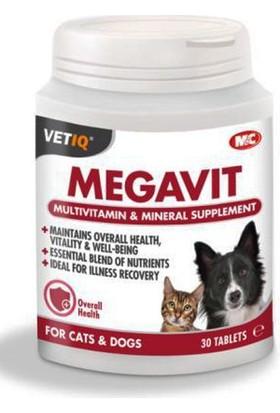 Mc Vetiq Megavit Kedi Köpekler İçin Multivitamin Tablet 30 Adet