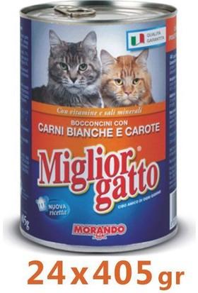Miglior Gatto Kümes Hayvanli Ve Havuçlu Kedi Konservesi 405 Gr (24 Adet)