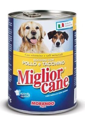Miglior Cane Tavuklu Ve Hindili Yetişkin Köpek Konservesi 405 Gr