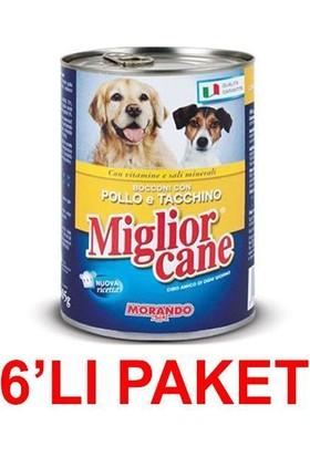 Miglior Cane Tavuklu Ve Hindili Yetişkin Köpek Konservesi 405 Gr (6'li Paket)