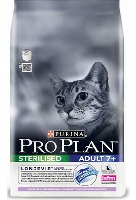 Pro Plan Adult +7 Yaş İçin Hindili Kısırlaştırılmış Yaşlı Kedi Maması 3 Kg