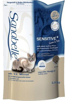 Sanabelle Sensitive Lamb Tahılsız Kuzu Etli Hassas Yetişkin Kedi Maması 2 Kg