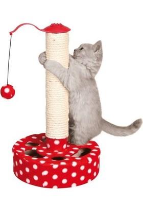 Trixie Oyuncakli Kedi Tırmalama Kırmızı Beyaz 27X45 Cm