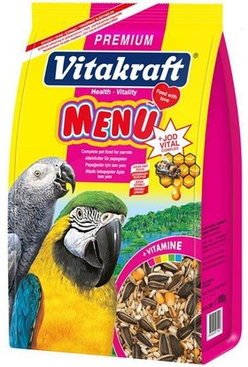 Vitakraft Premium Menü Vital Ballı Papağan Yemi 1000 Gr