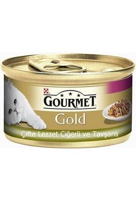 Gourmet Gold Soslu Ciğerli Ve Tavşanli Yetişkin Kedi Konservesi 85 Gr