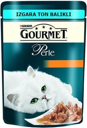 Gourmet Perle Izgara Ton Balıkli Yetişkin Kedi Yaş Maması 85 Gr