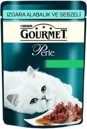 Gourmet Perle Izgara Alabalık Ve Sebzeli Yetişkin Kedi Yaş Maması 85 Gr