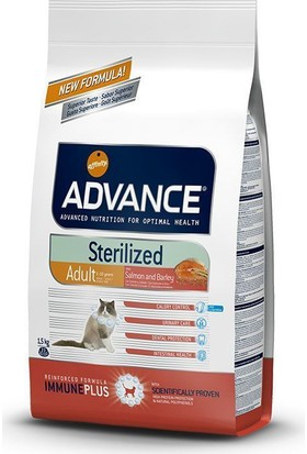 Advance Adult Sterilised Salmonbarley Somonlu Kısırlaştırılmış Yetişkin Kedi Maması 1,5 Kg