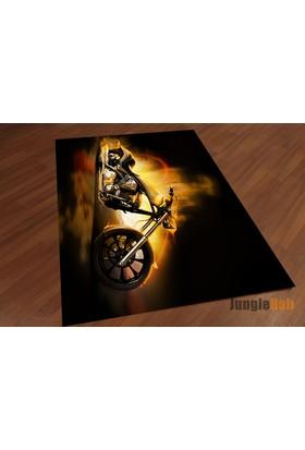 Jungle Motorcu Dekoratif Halı Halı
