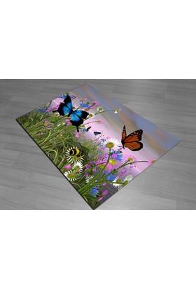 Jungle Kelebekli Dekoratif Halı Halı