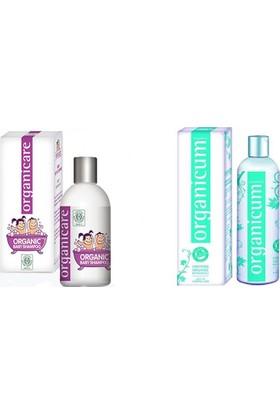 Organicare Bebek Şampuan + Organicum Kuru Saçlar