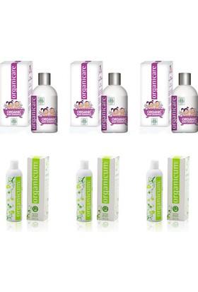 Organicare Bebek Şampuan 3 Adet + Organicum Yağlı Saçlar 3 Adet
