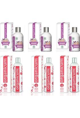 Organicare Bebek Şampuan 3Adet + Organıcum Şampuan 350Ml Boyalı Yıpranmış Saçlar 3 Adet