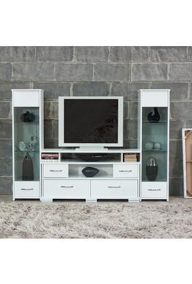 Abre-440-441 Tv Ünitesi Tv Sehpası Beyaz
