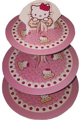 Tahtakale Toptancısı 3 Katlı Karton Cupcake Standı Hello Kitty Temalı Kek Standı